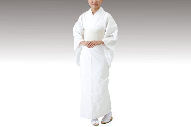 【寺院用 神職用 白衣 女性用】綿混厚地 白衣 (追丈仕様・合用)