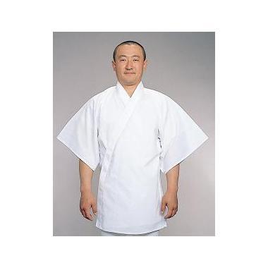 【半襦袢 男性用 寺院用 神職用】 さらし襦袢 手縫掛衿(絽) 筒袖 ロング丈 (夏用) 2枚セット