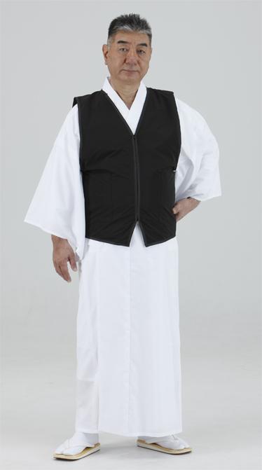 【防寒 ベスト】 着物の上から 防寒インナーベスト 黒