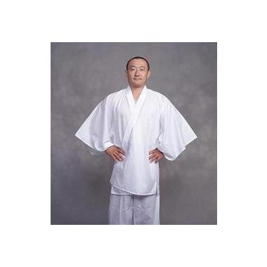 【半襦袢 男性用 寺院用 神職用】  クレ-プ半衿付襦袢 広袖 ロング丈 (夏用) 2枚セット