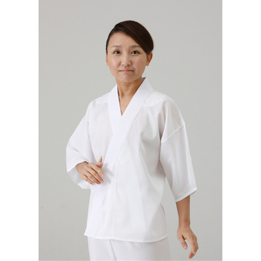 【女性用 和装 半襦袢】クレープ綿襦袢 肩当・半衿付(夏用) 2枚セット