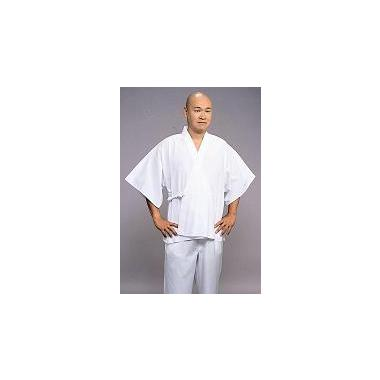 【半襦袢 男性用 寺院用 神職用】 さらし半衿襦袢 筒袖 紐付 普通丈 (年間用) 2枚セット