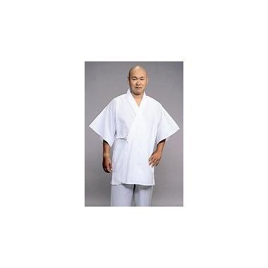 【半襦袢 男性用 寺院用 神職用】 さらし半衿襦袢 筒袖 紐付 ロング丈 (年間用) 2枚セット