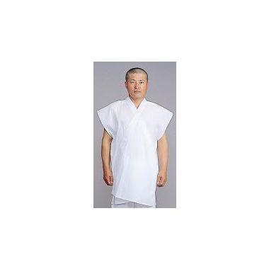 【半襦袢 男性用 寺院用 神職用】 クレープ半衿付襦袢 袖なし ロング丈 (夏用) 2枚セット