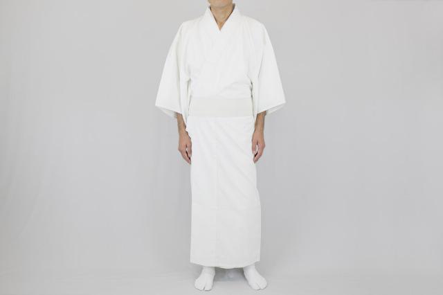 【寺院用白衣 男性用】爽快 トレハクール あぜくら織白衣(夏用)