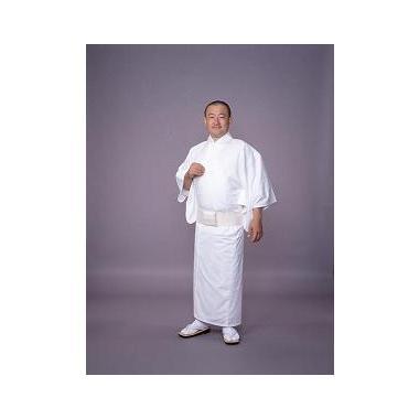 【寺院用白衣 男性用】東レシルック羽二重白衣・単衣 (合用)