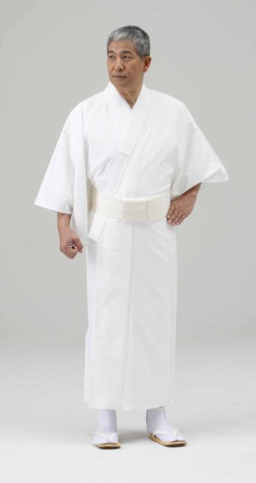 【寺院用白衣 男性用】シャミラン 楊柳調白衣  (夏用・B級品) 4L寸のみ