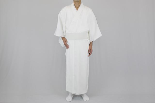 形状安定綿混薄地白衣 エターナリー加工(夏用)【寺院用白衣 男性用】