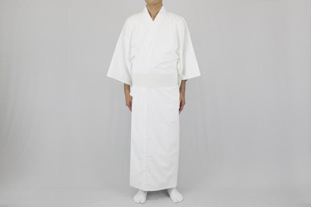 【寺院用白衣 男性用】吸水防汚・綿混  デュアルクリーン加工 白衣(合用)
