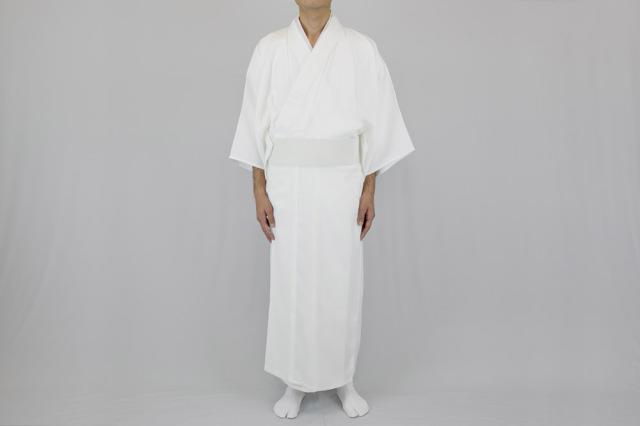 【寺院用白衣 男性用】形状安定綿混厚地白衣  エターナリー加工 (合用)