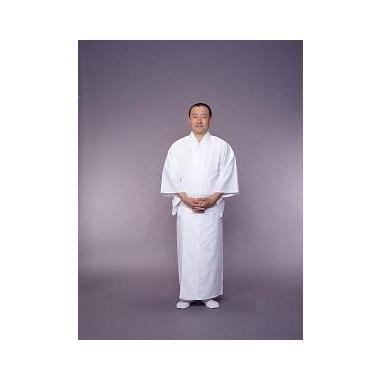 【寺院用白衣 男性用】冷感 あぜくら織白衣 綿100%(夏用・LLサイズのみ)