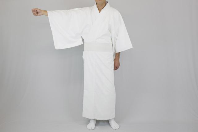 【寺院用白衣 男性用】あぜくら織 綿混厚地 白衣(合用)