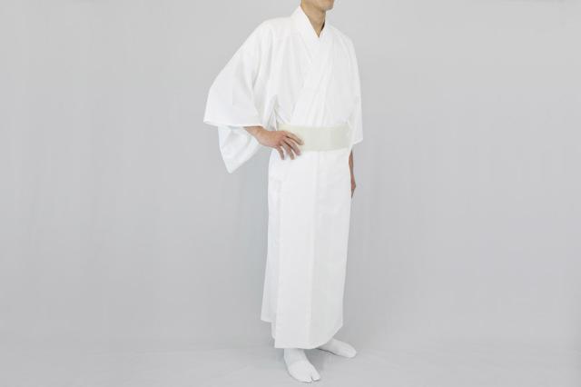 【寺院用白衣 男性用】 通気性・速乾性バッチリ! 軽涼白衣 (盛夏用)