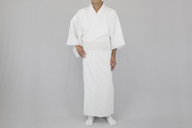 【寺院用白衣 男性用】 新 綿100%厚地 白衣(合用)
