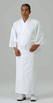 【寺院用白衣 男性用】爽感 すだれ織白衣  (夏用)