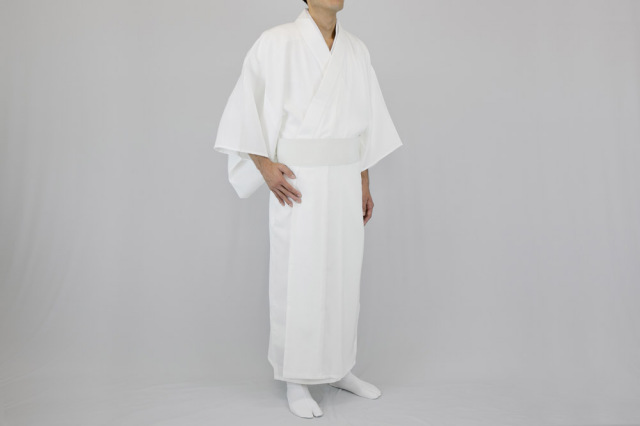 【寺院用白衣 男性用】徳用綿混うす地白衣  (夏用)