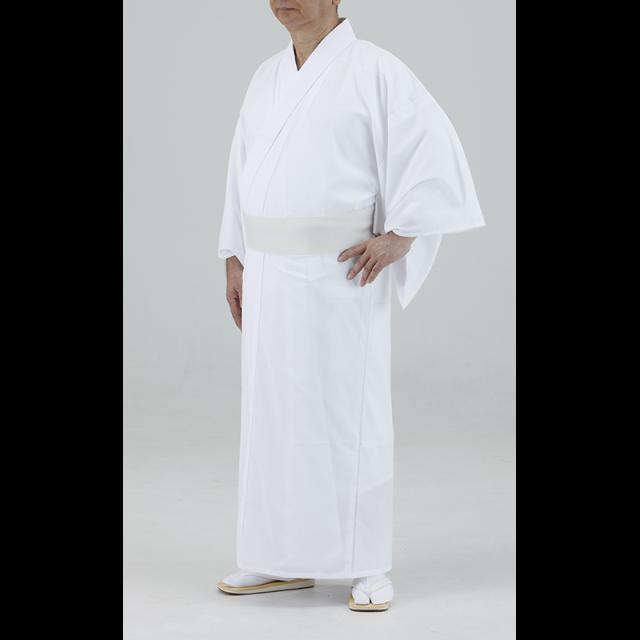 【寺院用白衣 男性用 巾広タイプ】 通気性・速乾性バッチリ! 軽涼白衣 巾広 (盛夏用)