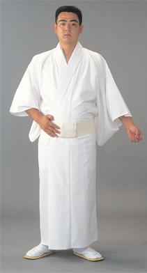 奉仕品 【寺院用白衣 男性用】巾広 蓄熱・保温白衣  (冬用) B-3Lのみ