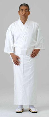 奉仕品【寺院用白衣 男性用】蓄熱・保温白衣  (冬用)※4L寸 のみ 在庫限り
