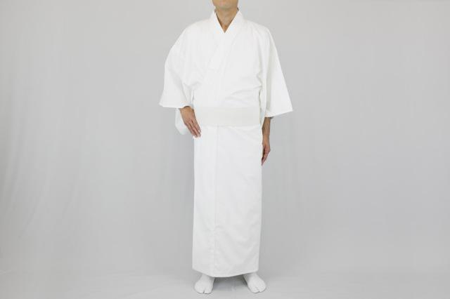 【寺院用白衣 男性用】2方向ストレッチ白衣 (合用)