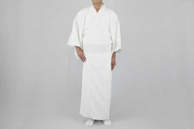 【寺院用白衣 男性用】遠赤外線 保温白衣  (冬用)