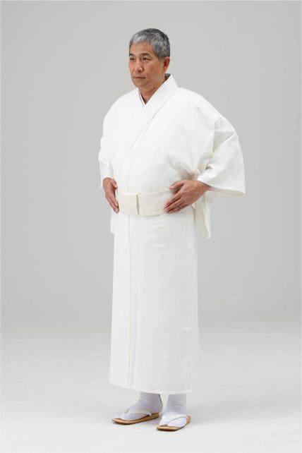 【寺院用白衣 男性用】巾広 遠赤外線 保温白衣  (冬用)