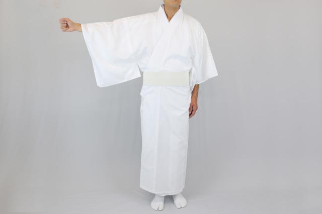 【寺院用白衣 男性用】麻混白衣 (夏用)