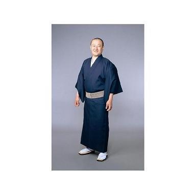 【着物 男性用 テトロン麻】東レトスコ麻混着物 紺(夏用)