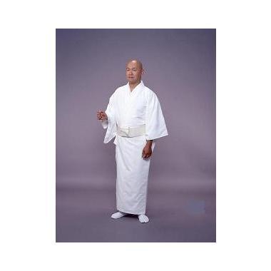 【寺院用白衣 男性用】毛混白衣 単衣(冬用)