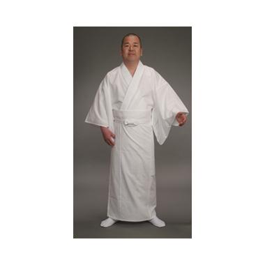 【寺院用白衣 男性用 二部式】形状安定綿混厚地白衣  下衣巻スタイル式 (合用)