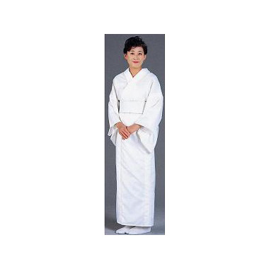 麻混 白衣 フリーサイズ/巾広サイズ (おはしょり仕様・夏用)【寺院用白衣 女性用】