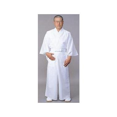 【寺院用白衣 男性用 二部式】毛混白衣 下衣(後部ゴム式) (冬用)