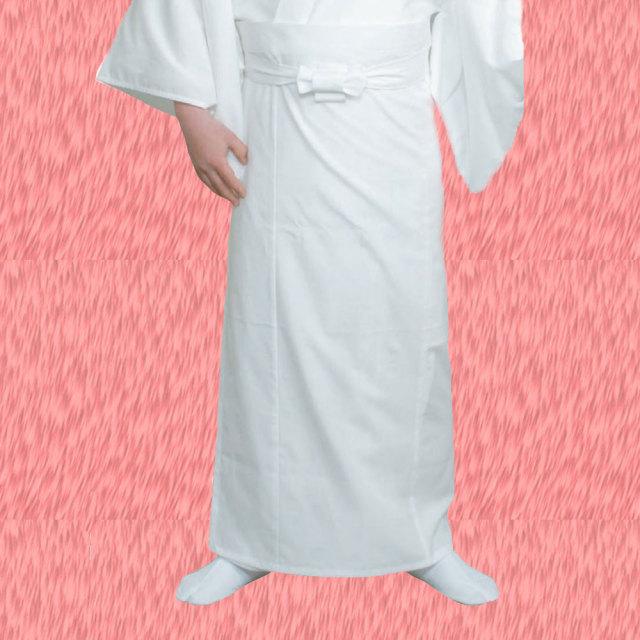【寺院用白衣 男性用 二部式】 遠赤外線 保温白衣 下衣巻スタイル式 (冬用)