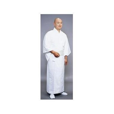 【寺院用白衣 男性用】毛混白衣・袷 (防寒用)
