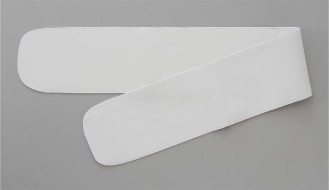 【和装用 帯 ワンタッチ 白】ワンタッチ式略帯 広巾 白