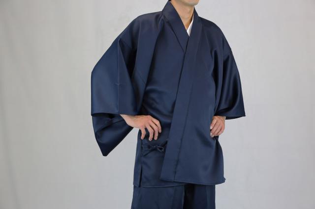 【道中衣 二部式 寺院用 男性用】二重織りサテン 道中衣 上衣(冬用)