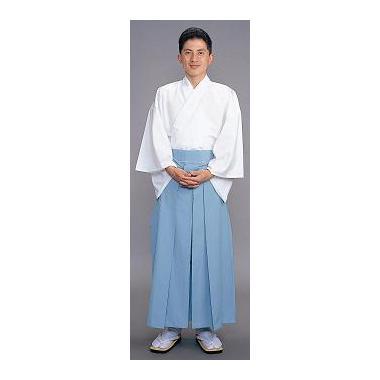 【神職用 袴 男性用】 浅葱(年間用)