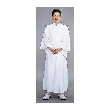 【神職用 袴 男性用】 白(年間用)
