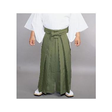 【道中袴 寺院用】夏用常袴 利休茶 (マチ付型・腰板なし)