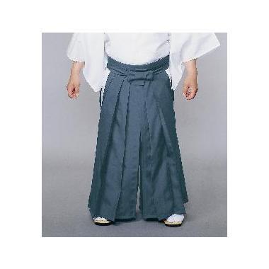 【道中袴 寺院用】夏用常袴 ブルーグレー (マチ付型・腰板なし)