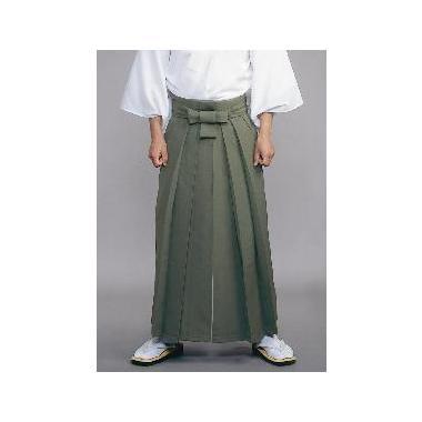 【道中袴 寺院用】年間用常袴 利休茶 (マチ付型/アンドン型・腰板なし)
