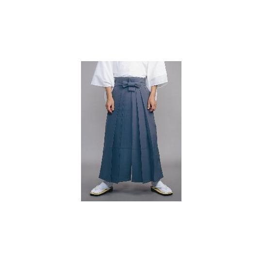 【道中袴 寺院用】年間用常袴 グレー (マチ付型/アンドン型・腰板なし)
