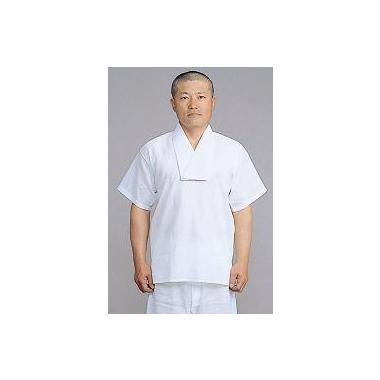 【Tシャツ 半襦袢 男性用 寺院用 神職用】半衿付クレープ肌着 半袖 (夏用) 2枚セット
