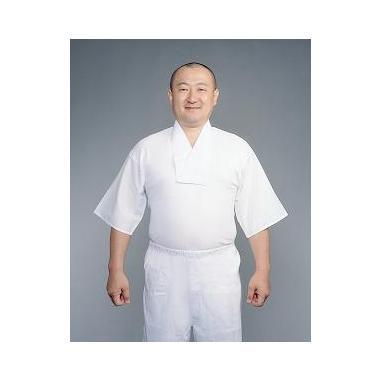 【Tシャツ 半襦袢 男性用 寺院用 神職用】半衿付めりやす肌着 筒袖織地 (合用) 2枚セット