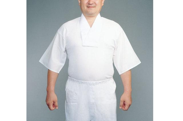 【Tシャツ 半襦袢 男性用 寺院用 神職用】半衿付めりやす肌着 筒袖 (春夏用) 2枚セット