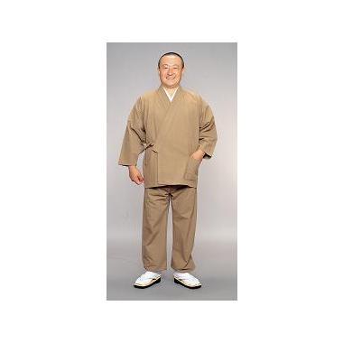 【作務衣 男性用】草木染綿作務衣 渋木・蓬 上下セット (合用)