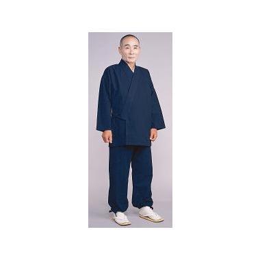 【作務衣 男性用】正藍染綿作務衣 上下セット (合用)
