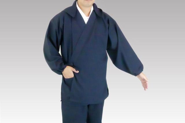 【作務衣(作業衣) 男性用】爽快軽量作務衣 上衣(フード付・フード無) 筒袖