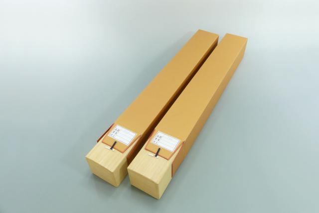 【掛軸 収納桐箱】 掛軸用 高級本桐箱  (軸先寸法:2尺6寸~3尺)