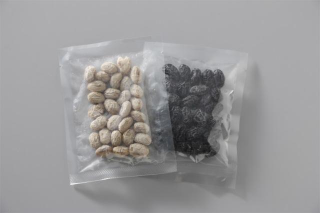 【菓子 お供え】うす甘納豆 【丹波の黒大豆/北海道のたまふくら】 40g(PP袋入) 100袋